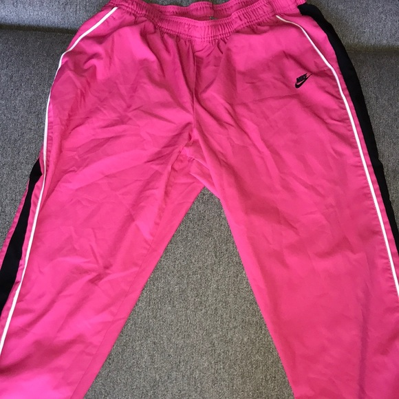 Nike Bottoms   Pink Nike Track Pants
